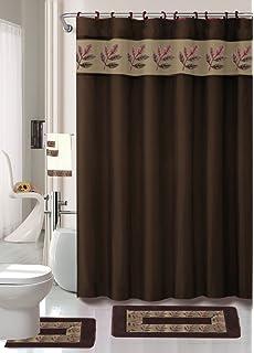 Charmant Oakland Coffee 18 Piece Bathroom Set: 2 Rugs/mats, 1