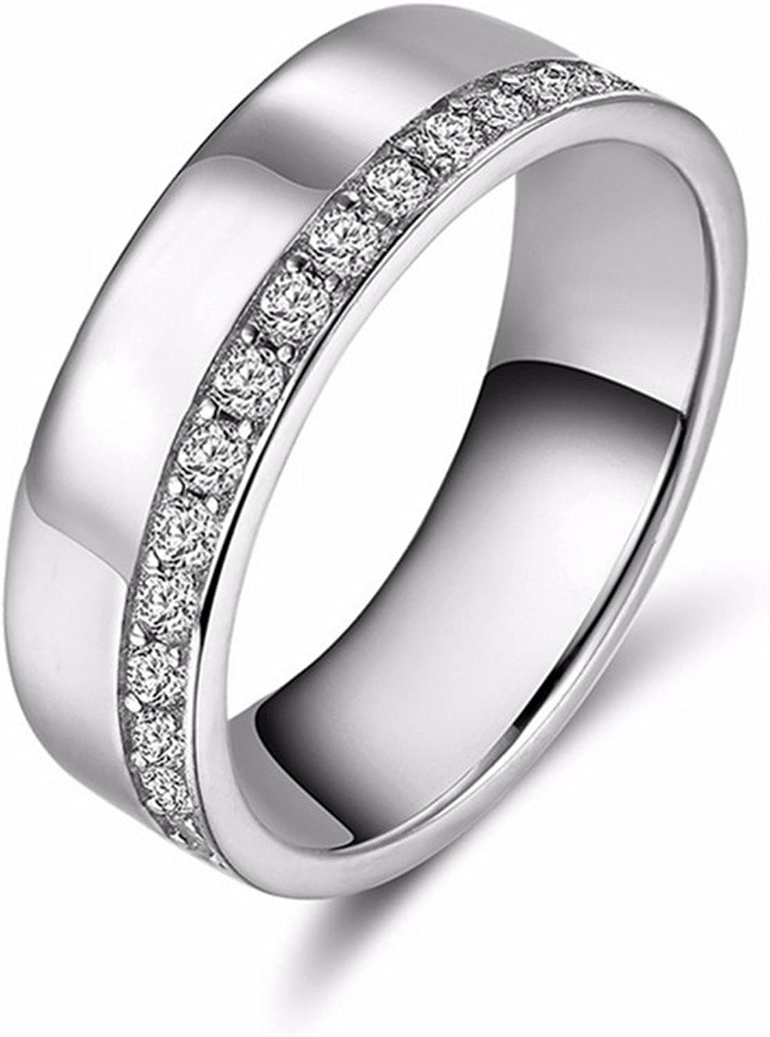 Gemmart Silver Color Women Wedding Engagement Jewelry rose gold engagement ring rings for women fashion