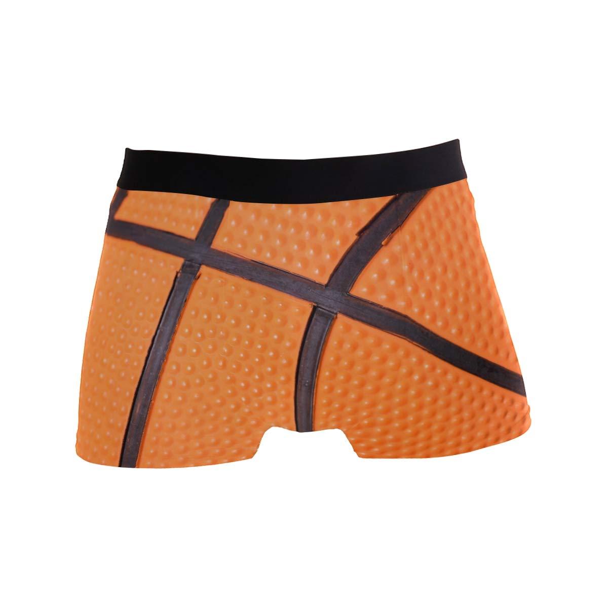 BETTKEN Mens Boxer Briefs Basketball Texture Print Short Underwear Soft Stretch Underpants for Men Boys S-XL