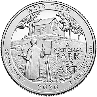 2020 S Silver Proof Weir Farm Connecticut National Park Np Quarter Gem Proof Us Mint At Amazon S Collectible Coins Store