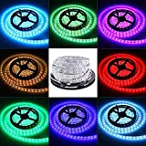 KOYA Led Strip Light Non-Waterproof Flexible Color Changing RGB SMD 5050 300leds LED Strip Light Kit with 44 Keys IR Remote Controller and 12V 5A Power Supply
