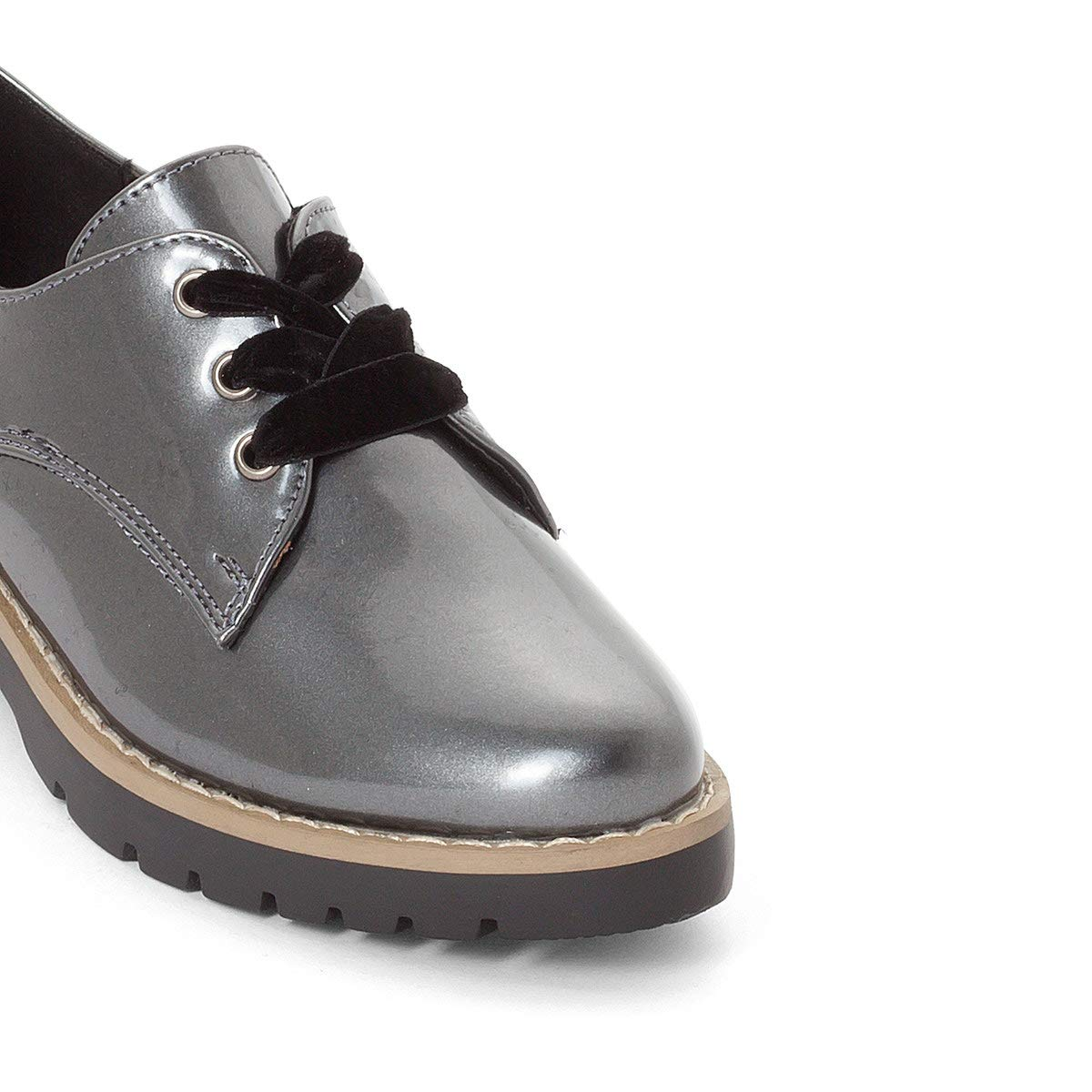 La Redoute Collections Metallic Lace-Up Brogues