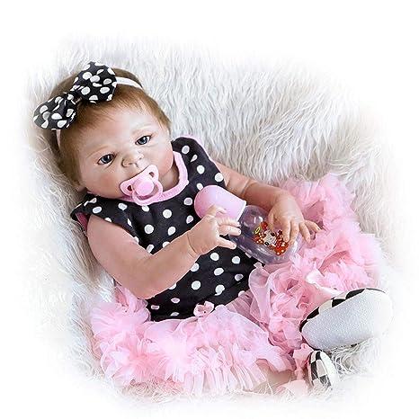 57Cm Reborn Baby Dolls Vestido Rosa Con Punto De Ola Reborn ...