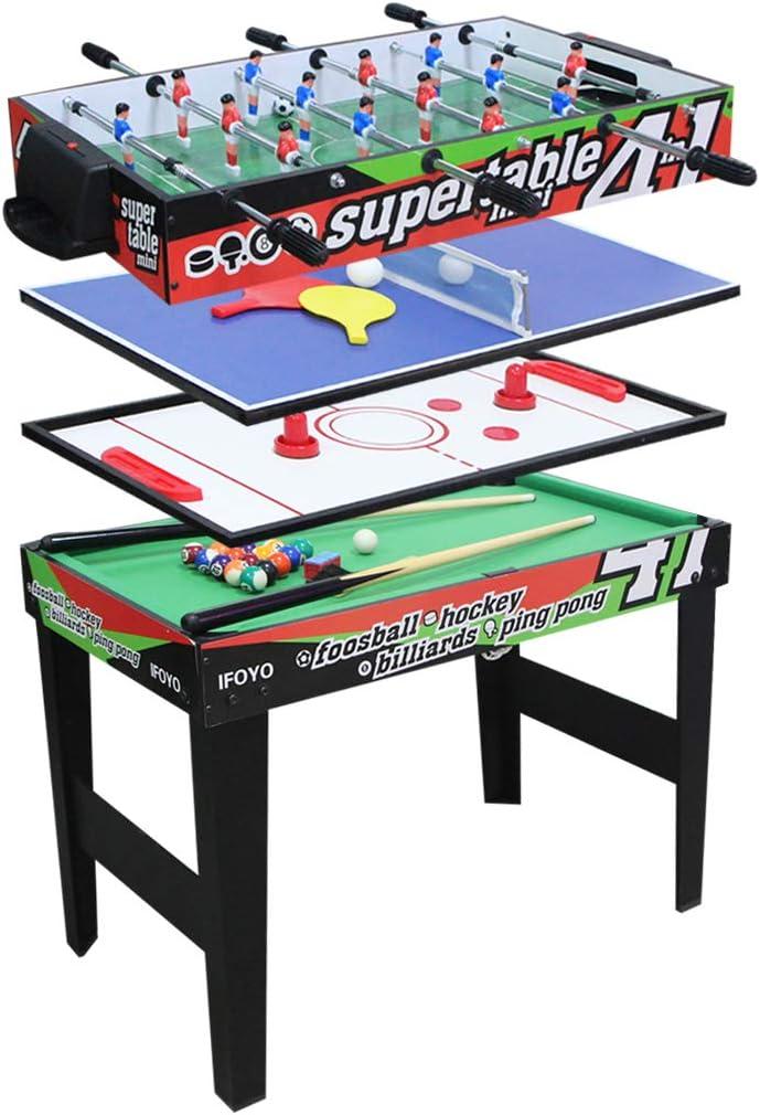 IFOYO 3ft multifunción 4 en 1 combo de Steady Juego Mesa, mesa de hockey, fútbol futbolín, billar, tenis de mesa/mesa de ping Pang: Amazon.es: Juguetes y juegos