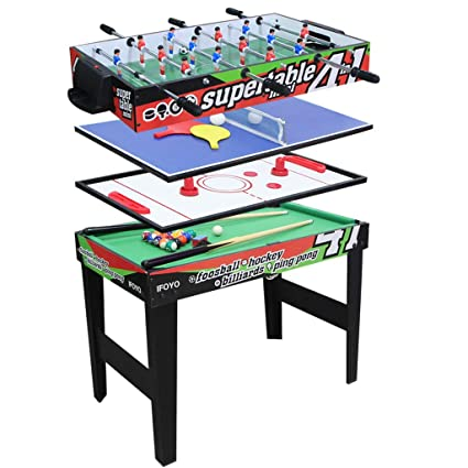 Superbe IFOYO Multi Function 4 In 1 Steady Combo Game Table, Hockey Table, Soccer