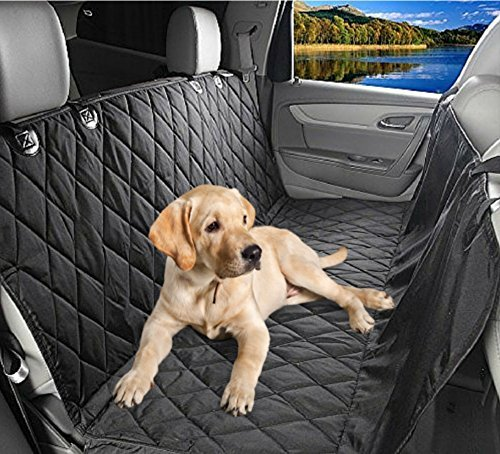 Waterproof Pet Car Seat Cover For Dogs - Universal Fit for Most Cars Trucks and SUV'S - Durable Seat Anchors and Nonslip Backing - Easily Clean Up Any Mess and Protect Your Seats