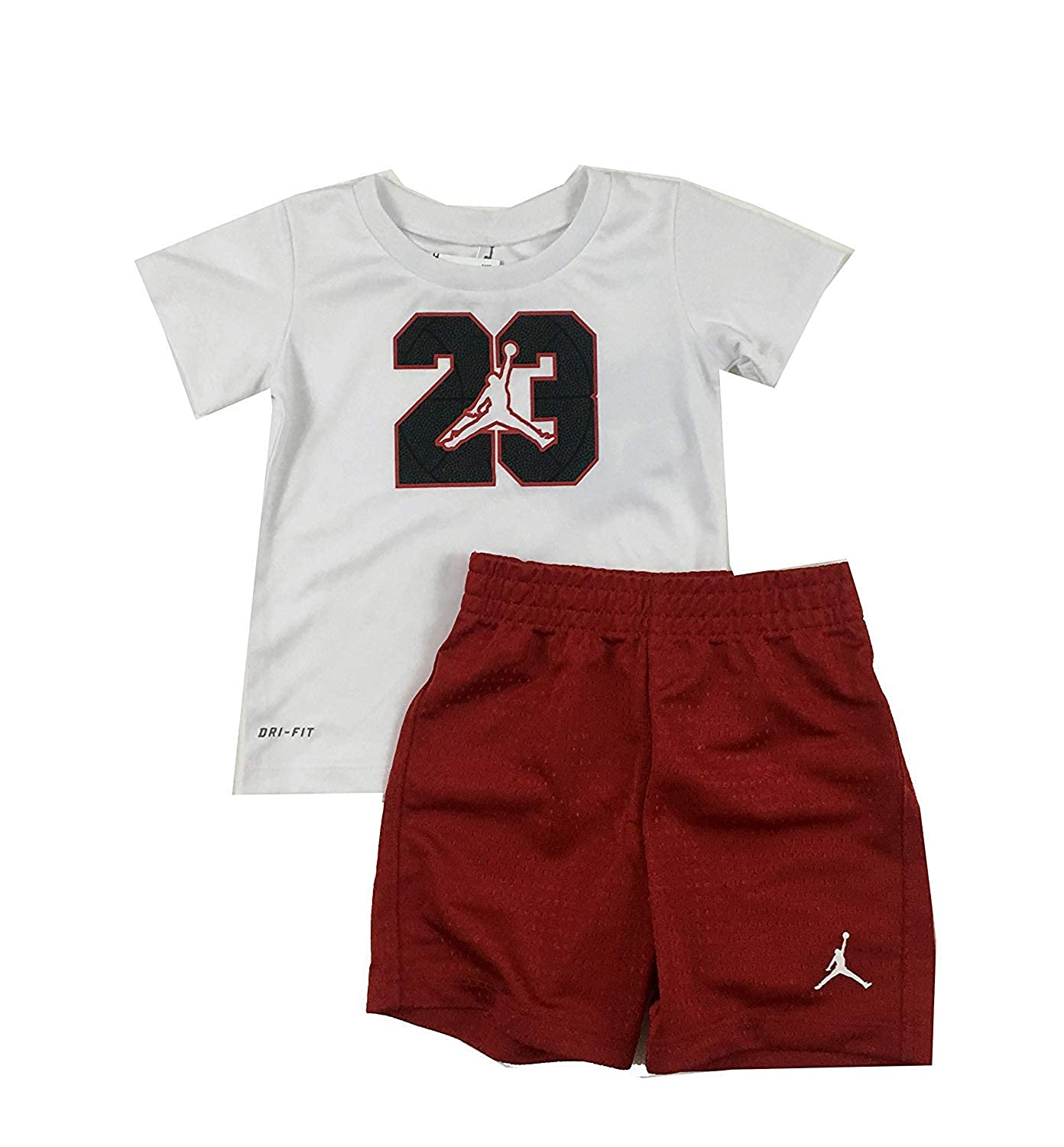 finest selection 8ed9f 5e9c7 Jordan Jumpman Infant/Toddler Boys Two Piece T-Shirt and Short Set Gym Red  Size 12 Months