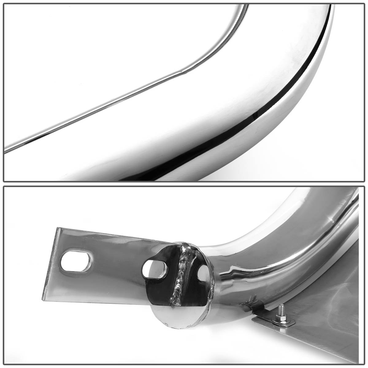 Chrome For Nissan Pathfinder R52 3 Bumper Push Bull Bar+Removable Skid Plate
