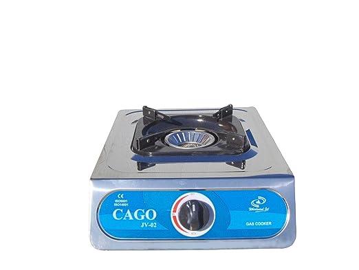 Cago JV 02 Hornillo de gas (1 fuego, acero inoxidable, 5,0 ...