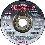 United Abrasives 9'' X 1/8'' X 7/8'' SaitZ-tech Zirconium Type 27 Cut Off Wheel, 25 Each