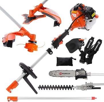 52cc Multi Función 5-en-1 Herramienta para el jardín - desbrozadora, Cortadora de cesped, motosierra, cortasetos y Más: Amazon.es: Bricolaje y herramientas