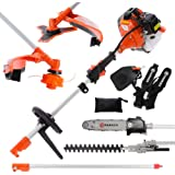 52cc Multi Function 5 in 1 Garden Tool - Brush Cutter, String Trimmer, Chainsaw, Hedge Trimmer & More