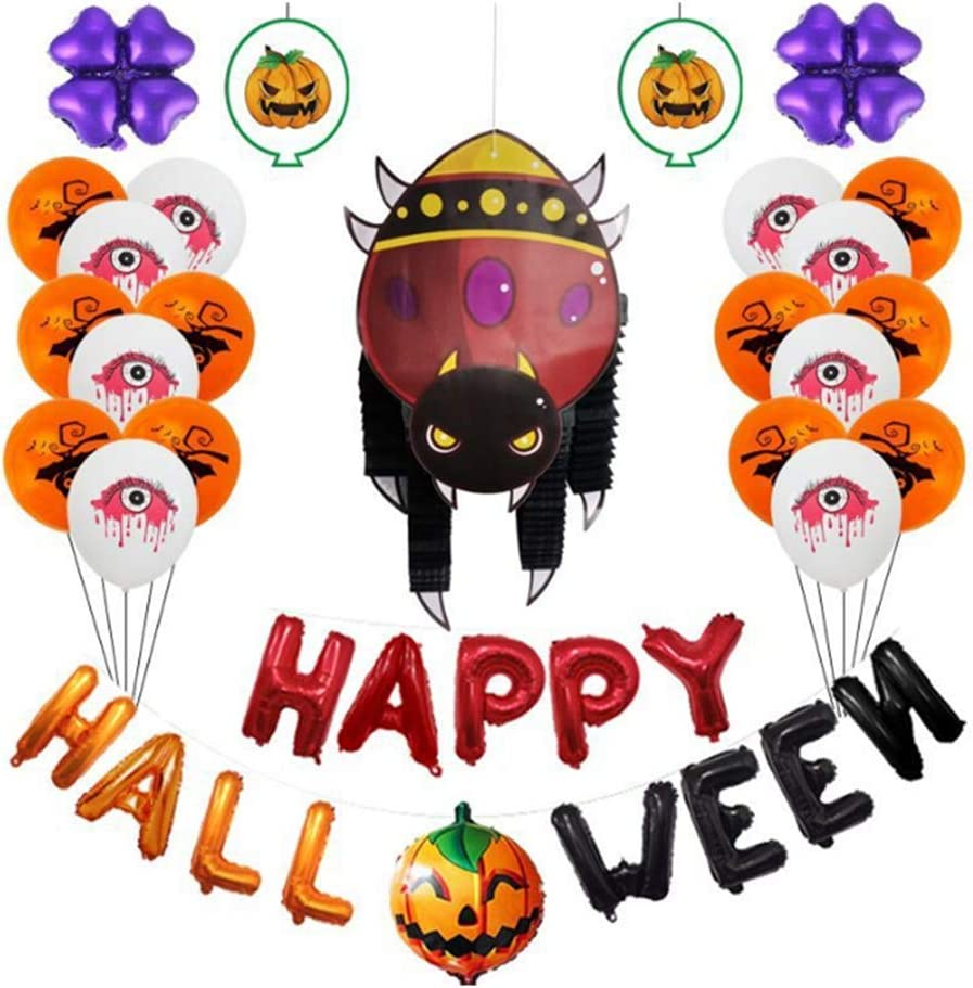 Cmxx Halloween Party Folie Luftballons Deko Banner Set Halloweenschmuck Klee Weiss Orange Schwarz Bannerdekoration Fur Decke Dachboden Garten Spukhaus Beetle Ballon Amazon Co Uk Kitchen Home