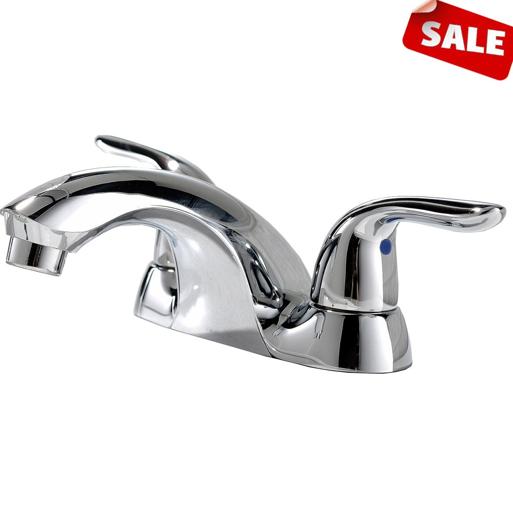12SHACO Best Commercial Double Handle Chrome Bathroom Faucet,Widespread Stainless Steel Bathroom Sink Faucets