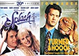 Turner & Hooch DVD & Splash Set Tom Hanks 80's Family movie Set Collection 20th Anniversary