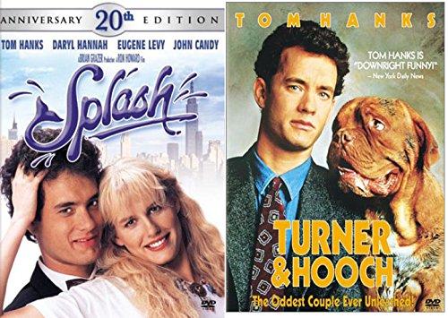 Turner & Hooch DVD & Splash Set Tom Hanks 80's Family movie Set Collection 20th Anniversary ()