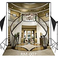 5x7FT Elegant Interior Stairs Photography Backdrop Customized CP Photo Background Studio Prop RM-007
