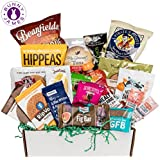 Healthy Sweet & Savory Snacks Sampler Box: Variety Mix of Premium Natural, Organic, Gourmet Food Snacks – College Care Package, Thank You, Get Well Gift Box