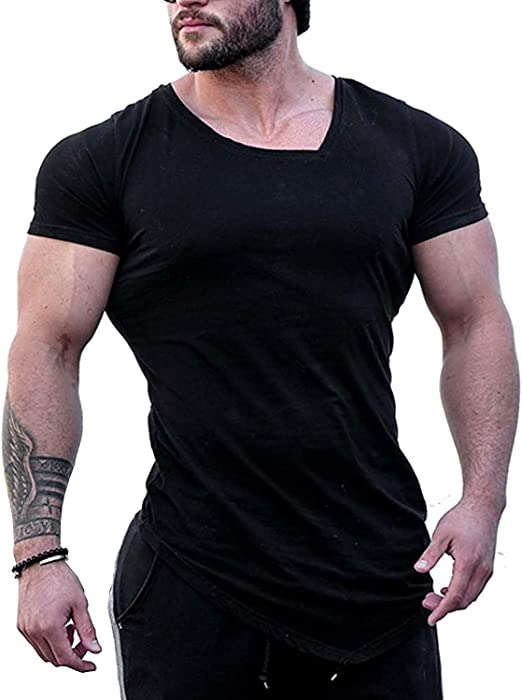 Men/'s Athletic Gym Fitness T-shirt Short Sleeve Casual Muscle Bodybuilding Tee