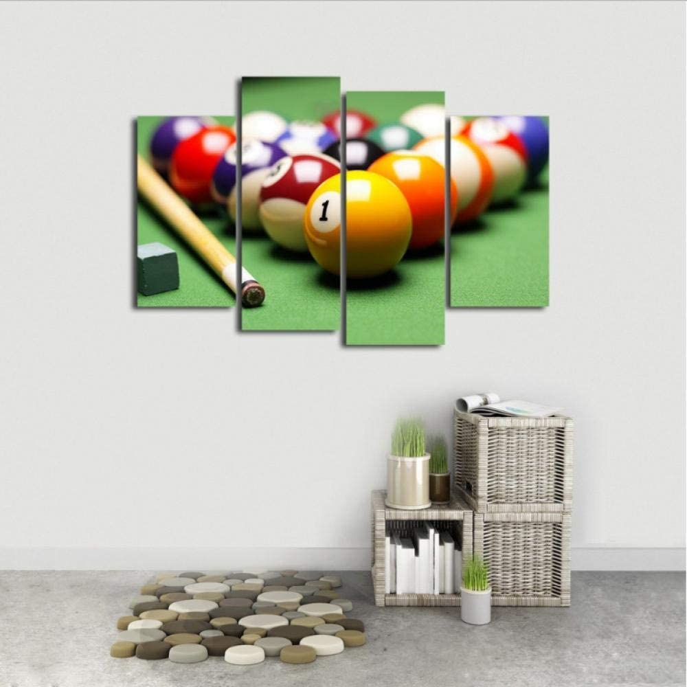 DIANER Canvas Wall Art HD Print 4 Piezas Ball Bar Y Pool Bar ...