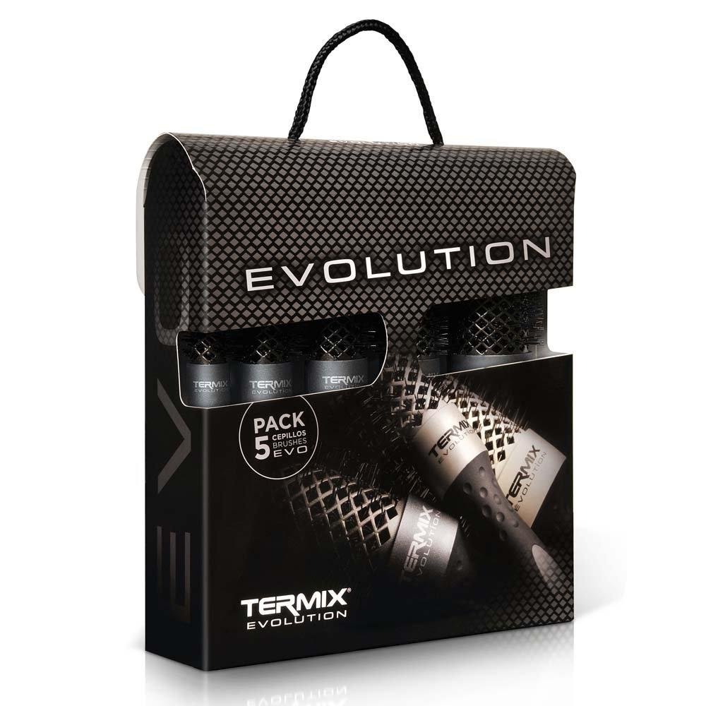 Termix Evolution Plus - Confezione da 5 termici, spazzole speciali per capelli spessi