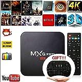 Cewaal (AU Plug)Smart TV Box, Android 6.0 Amlogic RK3229 1GB+8GB Quad Core Network WiFi 1080P HD 4K Smart TV Box Media Player +I8 Keyboard for MXQ Pro