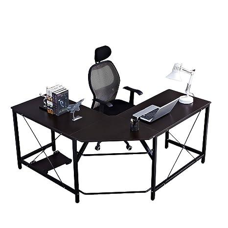 Soges L Form Eckschreibtisch Computertisch Winkelschreibtisch 150 Cm 150 Cm Großer Gaming Schreibtisch Bürotisch Ecktisch Arbeitstisch Pc Laptop