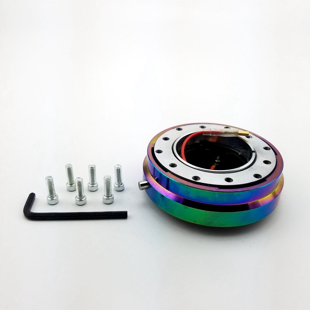 Universal Steering Wheel Snap Off Quick Release Hub Adapter Boss kit (Neo Chrome) X-ZONE