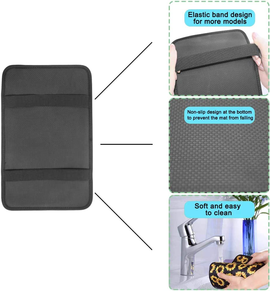 Compatible with Most Car Sunflower Car Accessories Universal Soft Comfort Center Console Pad AFUNTA Sunflower Auto Center Console Pad /& Key Chain