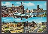 Pan American Boeing 707 Frankfurt Germany 4-view postcard 1971
