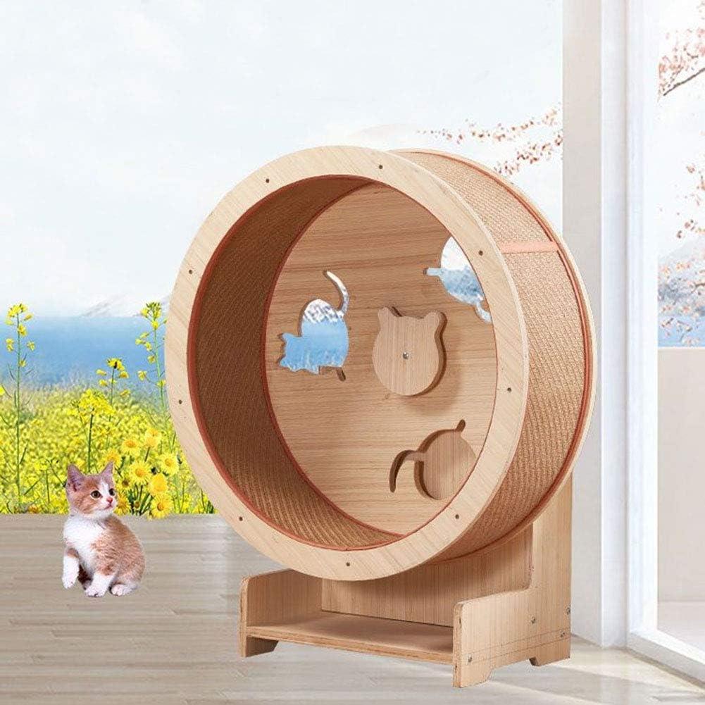 U//S SHIJIU SHIMENG cat treadmill exercise wheel,pet hamster hedgehog gerbil wheel,spin the wheel,wood A