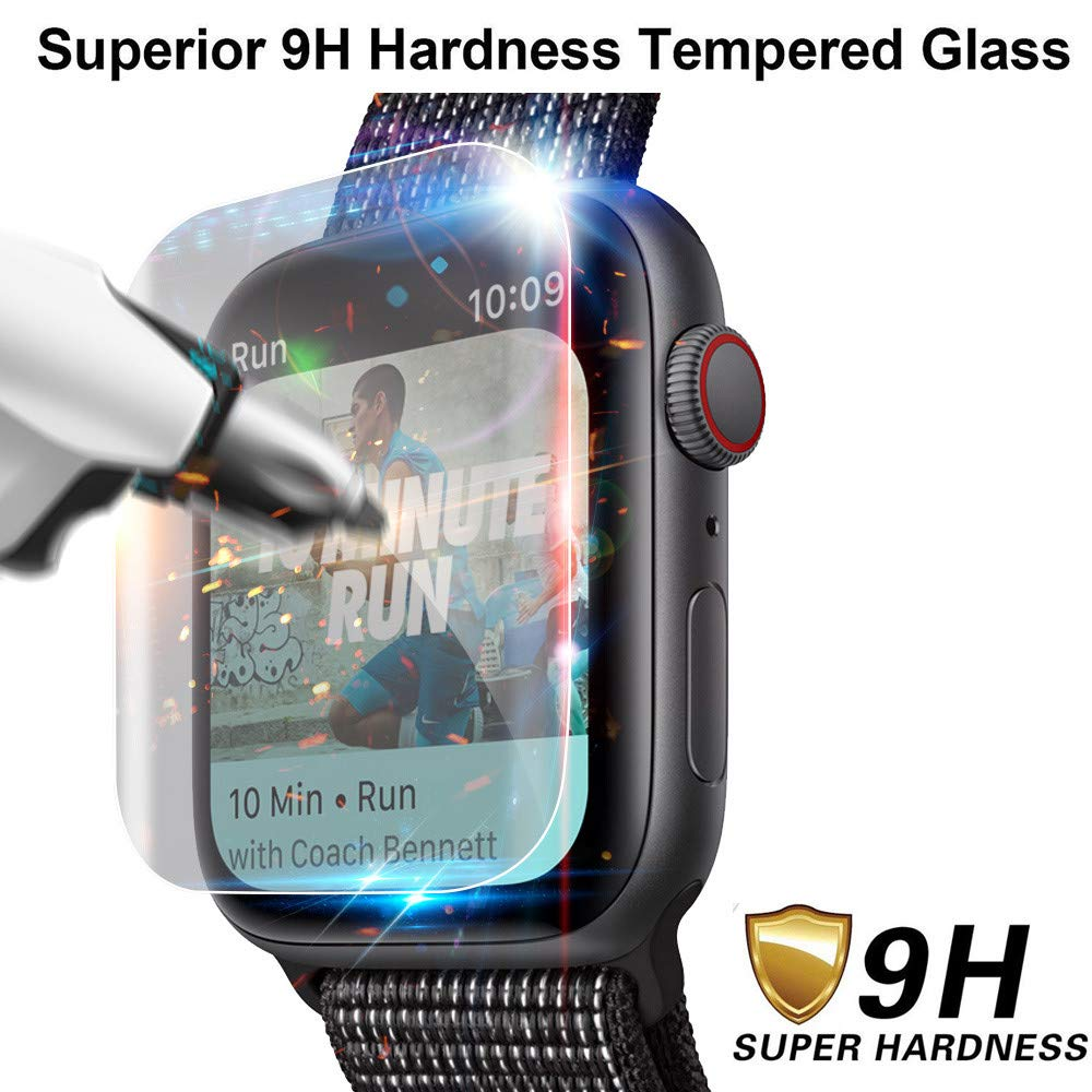SHL for Apple Watch Series 4 Screen Protector, Explosion-Proof TPU Screen Protector Film for Apple Watch Series 4 (40mm) (2Pack) by Sunshinehomely-Watch Band (Image #1)