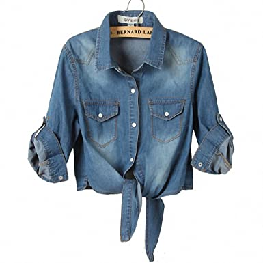 NEW Ladies 3/4 Sleeve Denim Jacket Women Coat Short Jean Jacket Outerwear Casaco Feminino