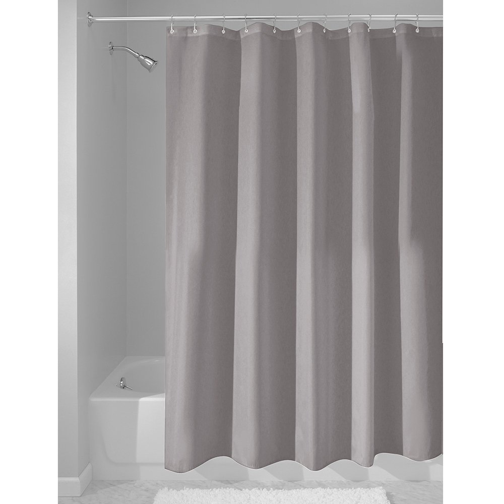 Amazon InterDesign Fabric Waterproof Shower Curtain Liner72 By 72 Inches Gray Home Kitchen