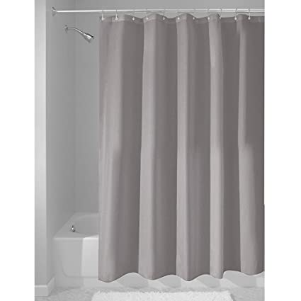 grey shower curtain liner. InterDesign Fabric Waterproof Shower Curtain Liner 72 by inches  Gray Amazon com