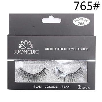 552c49bce1d Amazon.com : 2 pairs natural false eyelashes fake lashes makeup kit 3D Mink Lashes  eyelash extension mink eyelashes maquiagem : Beauty