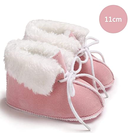 TODAYTOP 0-1 Years Old Men And Women Baby Shoes Winter Soft Bottom Plus  Velvet Warm Snow Boots Cotton Shoes Baby Toddler Shoes Pink 11cm   Amazon.co.uk  ... d804cef1d2