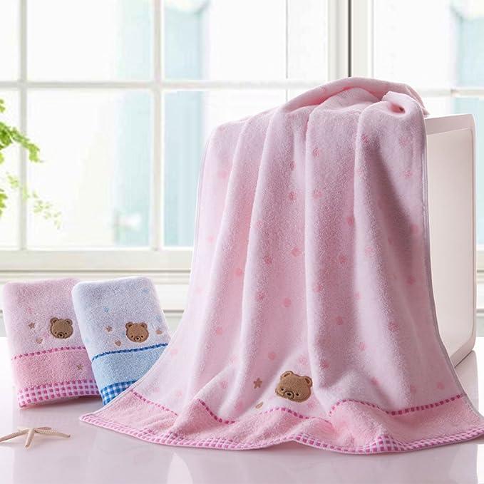 Toallas CHENGYI baño de algodón Puro para el hogar baño absorbentes para el hogar baño * 1 2 (Color : Un Azul): Amazon.es: Hogar