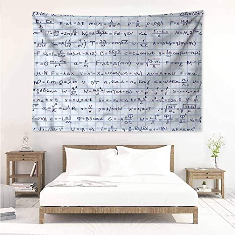 Amazon.com: Sunnyhome Wall Tapestry,Blue Jean Pattern on ...