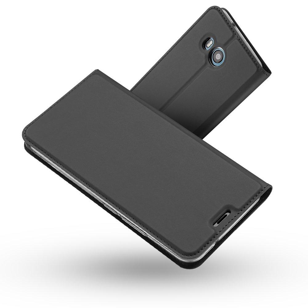 HTC U11 Hülle, HTC U11 Lederhülle, Radoo® Premium PU Leder Handyhülle [Ultra Slim][Kabelloses Aufladen Unterstützung] Brieftasche-stil Magnetisch Folio Flip Klapphülle [Transparenter TPU Stoßfänger] Etui Brieftasche Hülle [Karte Halterung] Schutzhülle Tasc