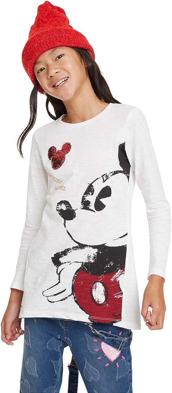 Desigual T-Shirt Mickey Camiseta de Manga Larga para Ni/ñas