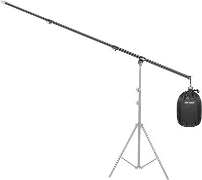 Neewer Brazo Luz Superior Ajustable de 80cm a 210cm con Bolsa de Arena de Contrapeso Vacía