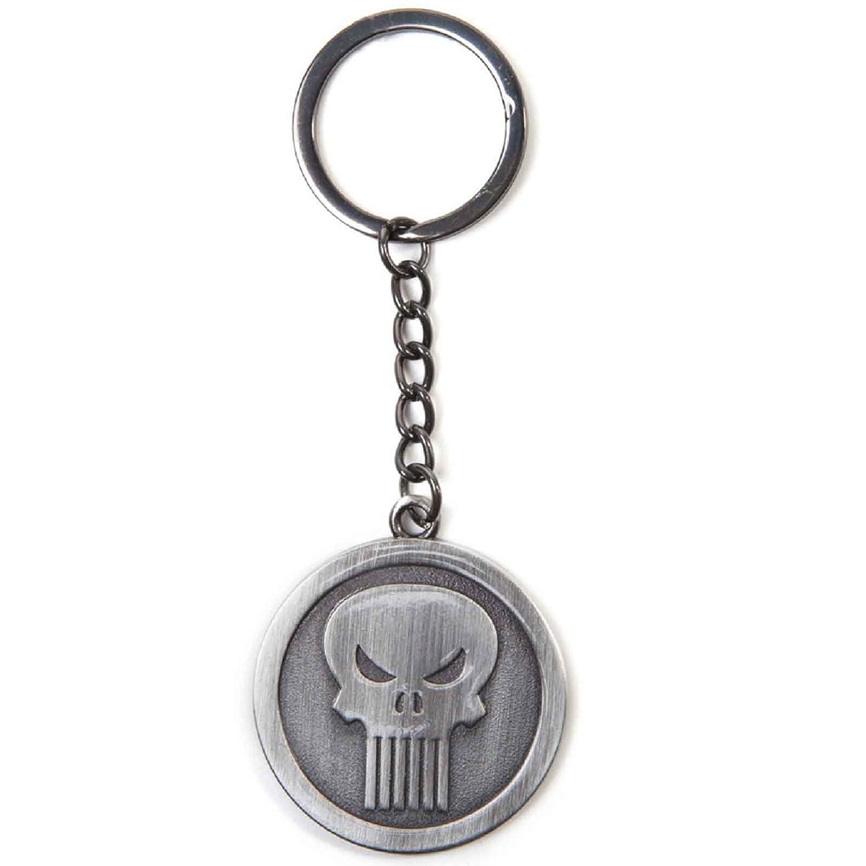 Punisher Keyring Keychain Punisher new Official Marvel Metal Silver Marvel Merchandise