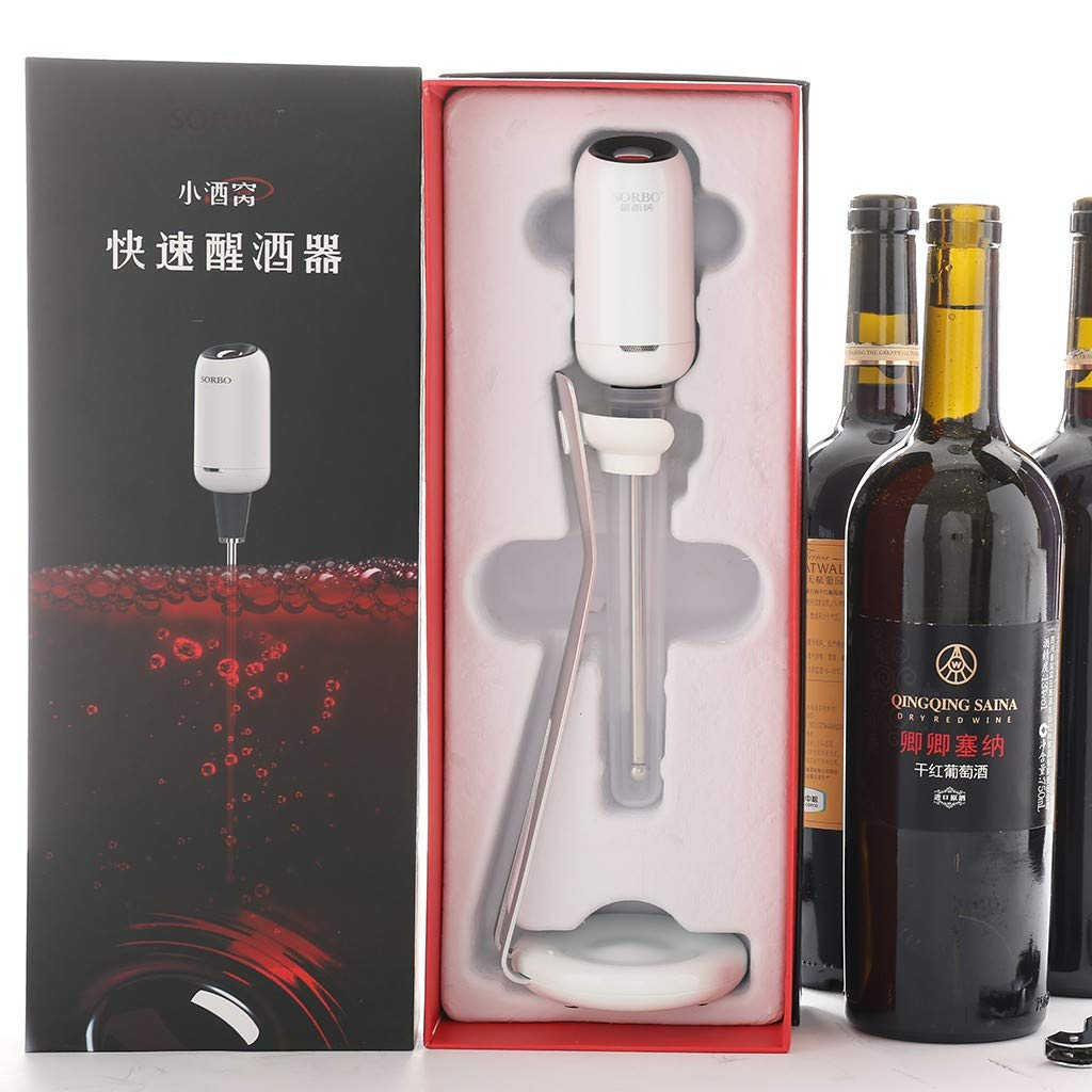 Sorbo Portable Automatic Wine Fast Sober Up For Household Bar Restaurant with Bracket and Protective Shell Sober up in Bottle ABS+Silicone+304 Stainless Steel (GD) by umUXHxk (Image #9)