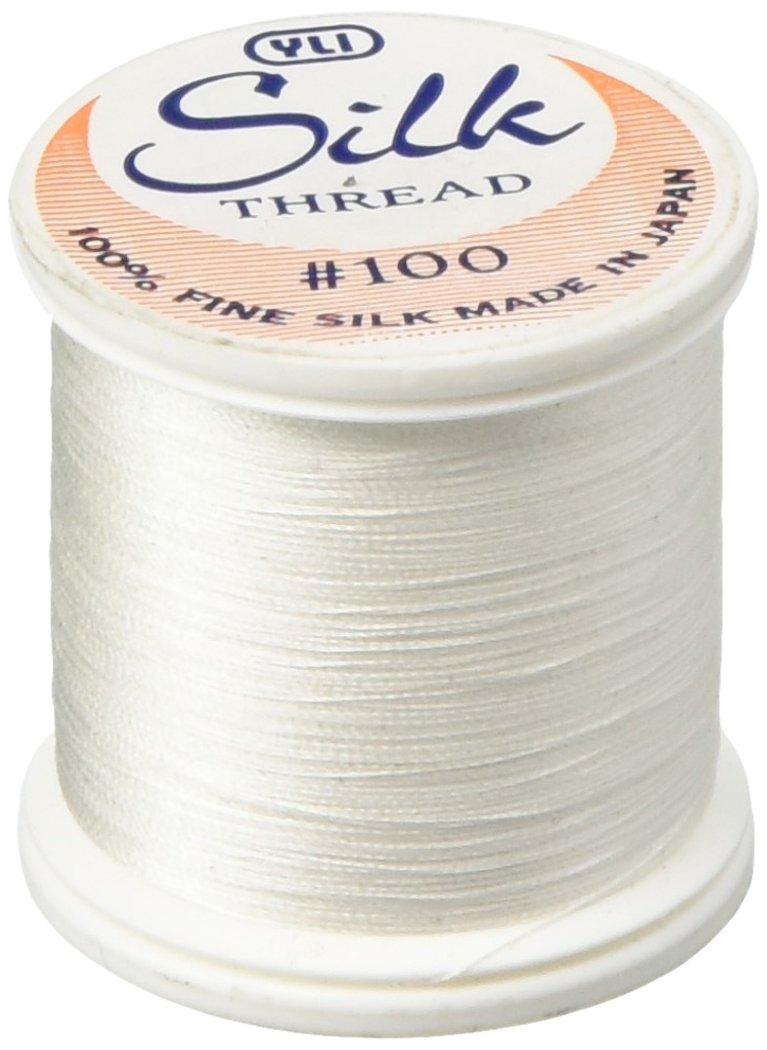 YLI Corporation 202-10-WHT Thread Silk 100 Weight 200 Meters 20210-WHT