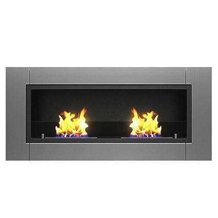 Delightful Moda Flame Valencia PRO Wall Mounted Ethanol Fireplace