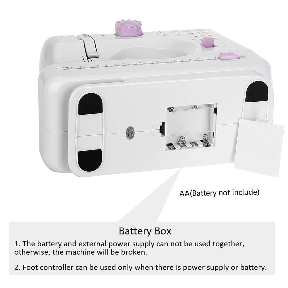 Mini macchina da cucire elettrica portatile professionale macchina cucire manuale per principianti con lampada 12 punti