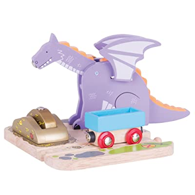 Bigjigs Rail Wooden Dragon Crane - Wooden Train Set Accessories: Toys & Games