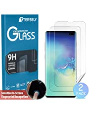 Samsung Galaxy S10 Screen Protector, TERSELY [2 Pack] Full Coverage HYDROGEL Aqua Flex Screen Protector Flexible Full Cover Curved Soft TPU for Samsung Galaxy S10 [Support Fingerprint Unlock]