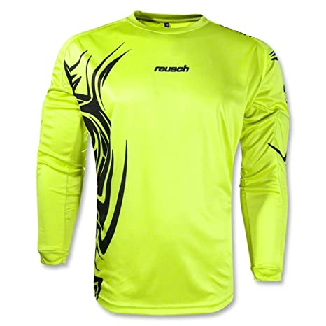 8431c022102 Reusch Bakura Longsleeve Goalkeeper Jersey (Medium, Lime Green/Black)